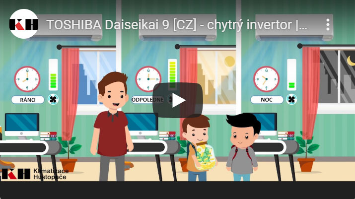 Toshiba Daiseikai - vnitřní a vnější jednotka s ovladačem